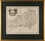 516 Joan Blaeu Map of Quangsi Province China