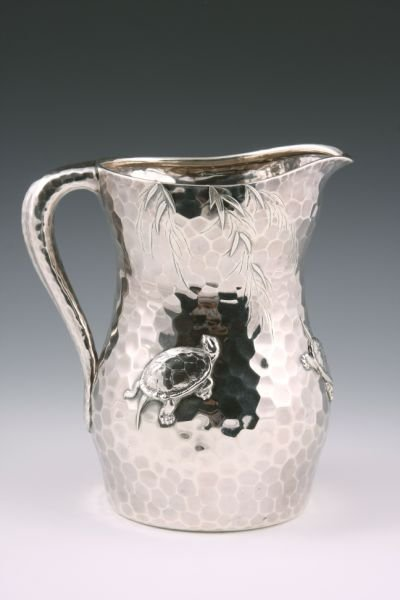 579: Tiffany & Co. Sterling Silver Japanese Pitcher,