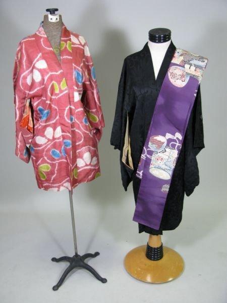 1006: Two Vintage Kimonos and Obi,