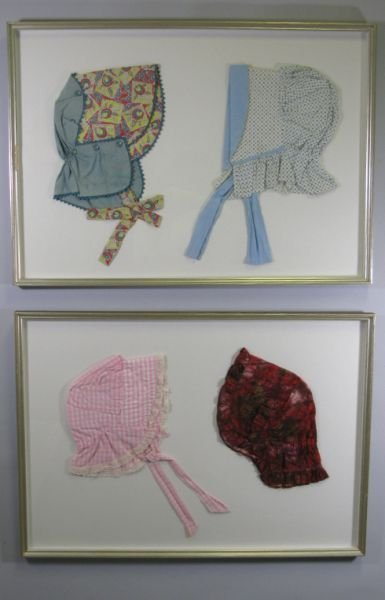 1008: Group of Four Amish Bonnets,
