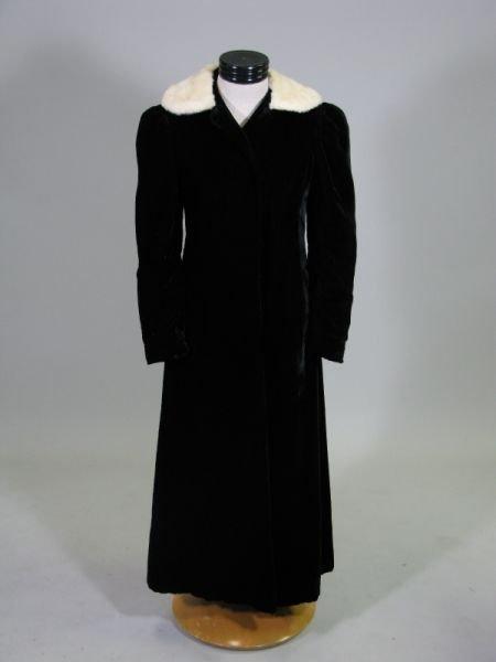 1017: Vintage Opera Coat with Ermine Collar,