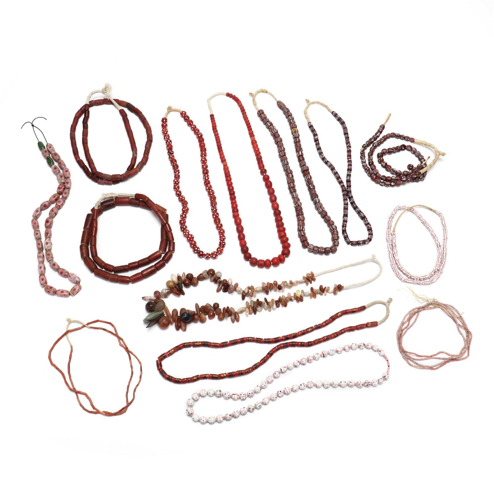 Group of African Trade Bead Necklaces
