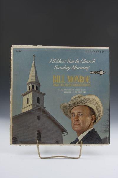 2016: Autographed Bill Monroe Record Album,