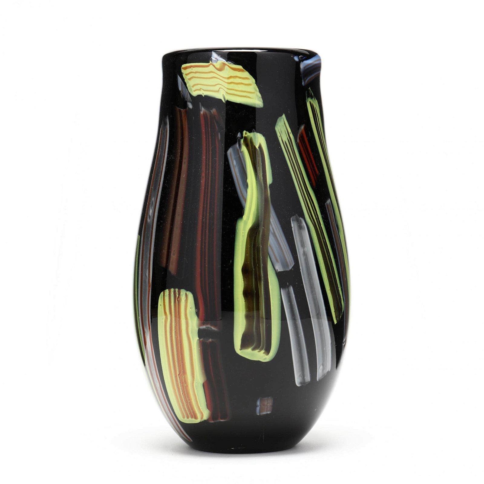 Murano  Murrine  Glass Vase