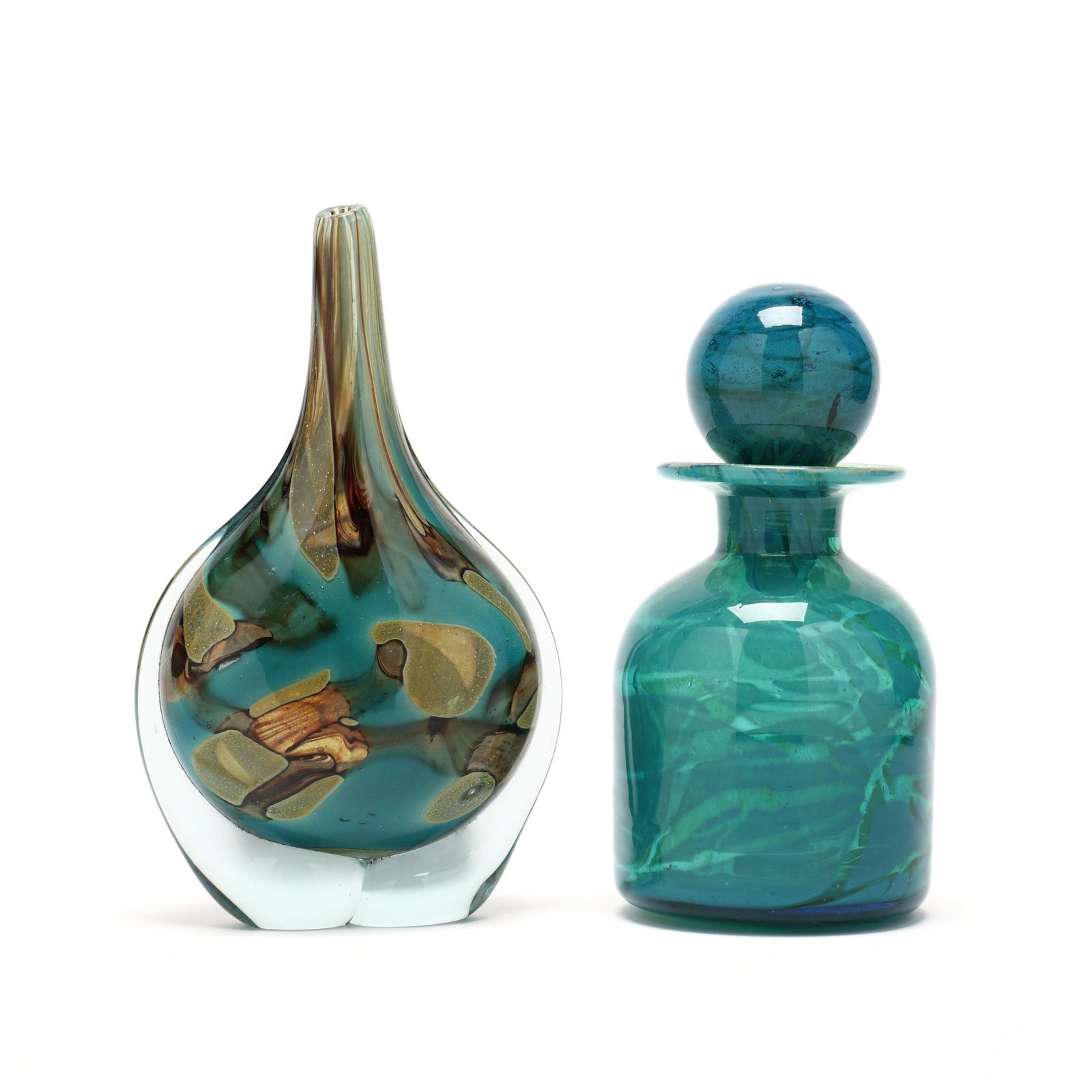 Mdina, Two Pieces of Art Glass