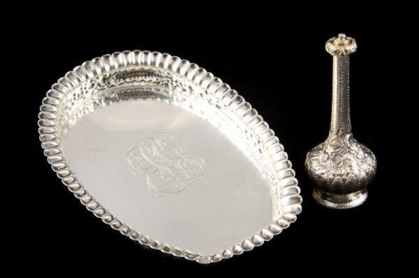 6: Tiffany & Co. Sterling Silver Vinaigrette & Tray,
