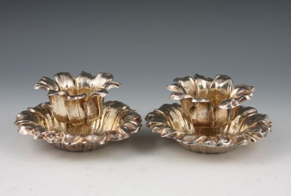 8: Pair of Tiffany & Co. Sterling Silver Candlesticks