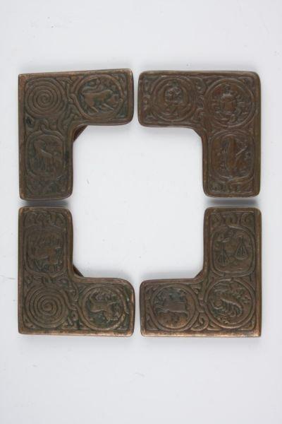 11: Tiffany Studios Bronze Blotter Corners,