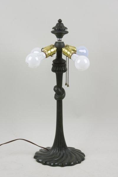 13: Unsigned Gorham Bronze Lamp Base, ca.1900,