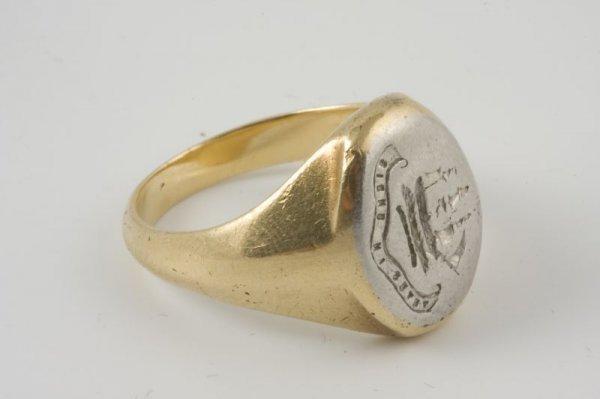 15: Tiffany & Co. Man's Signet Ring, Platinum & 18KT,