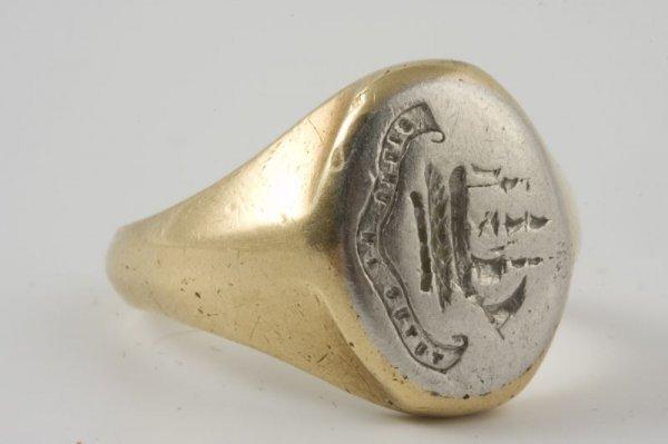 15: Tiffany & Co. Man's Signet Ring, Platinum & 18KT, - 2