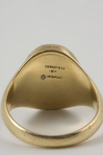 15: Tiffany & Co. Man's Signet Ring, Platinum & 18KT, - 3