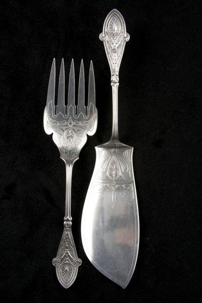 "24: Tiffany & Co. Sterling Silver ""Italian"" Fish Set,"