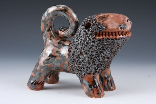122: NC Pottery, Billy Ray Hussey Lion,