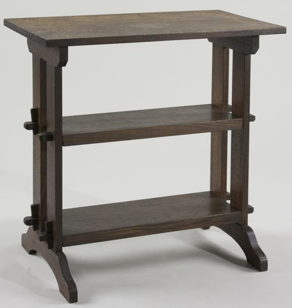 178: Roycroft Mission Oak End Table / Stand,