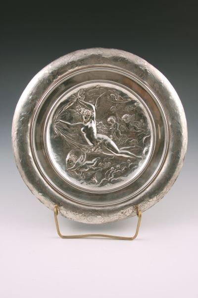 504: Elkington Silver on Copper Artist Plaque,