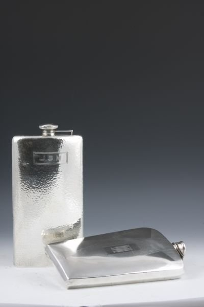 514: Two Sterling Silver Flasks,