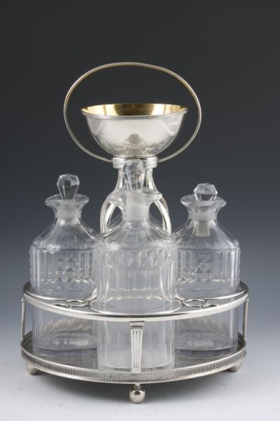 516: Silver Plate Cruet, Early 20th c.,