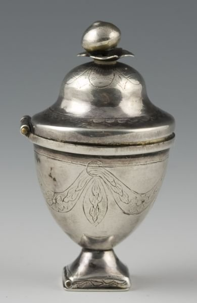 521: Adam Style Urn Form Vinaigrette, 18th c.,