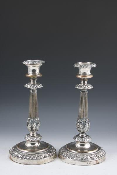 523: Old Sheffield Plate Candlesticks, Matthew Boulton,