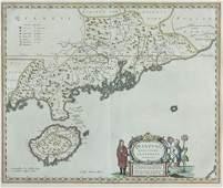 769 Joan Blaeu Map Quantung Province China