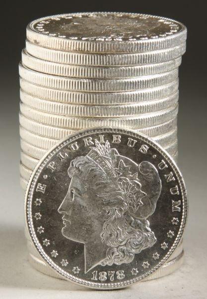 815: BU Roll 1878 8TF Morgan Silver Dollars,