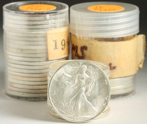 938: 42 BU Walking Liberty Half Dollars,