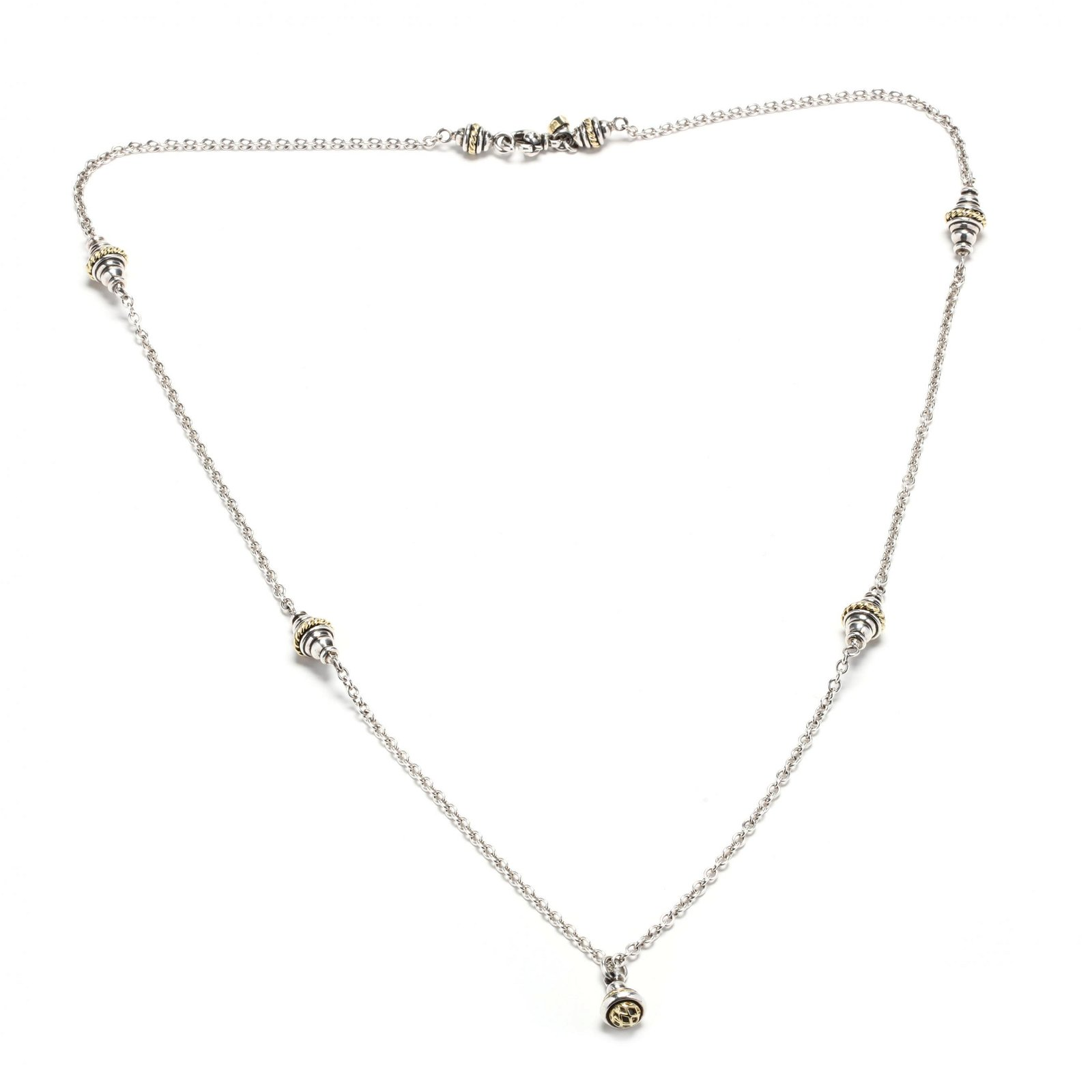 Sterling Silver and 18KT Gold Necklace, David Wysor