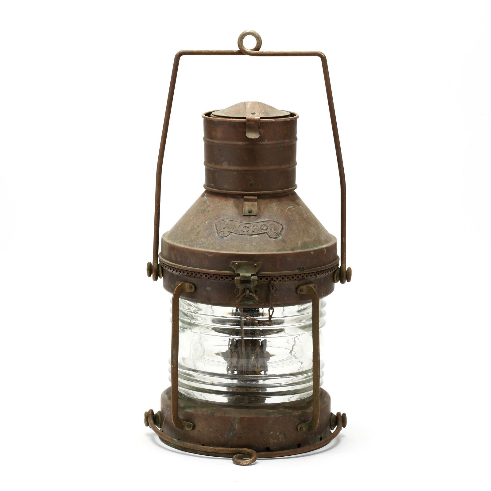 Copper and Brass Ship's Anchor Light