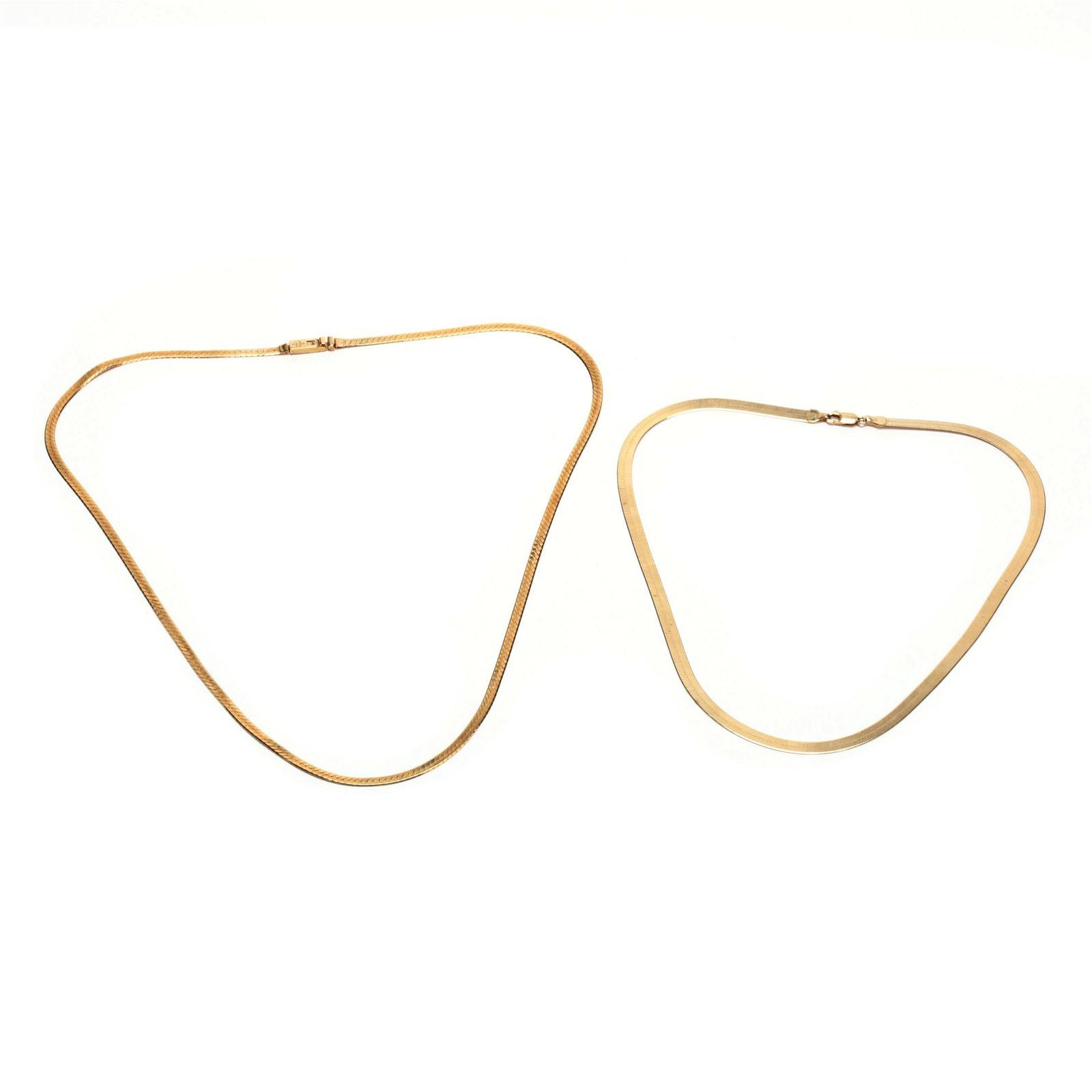 Two 14KT Gold Chain Necklaces
