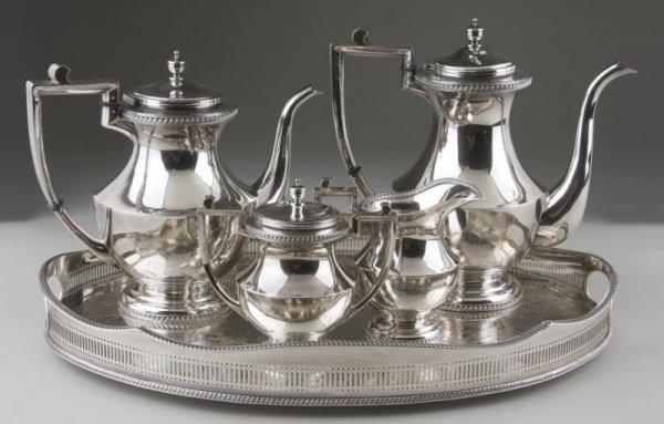 2: .950 Fine Silver Tea & Coffee Service, Japanese,