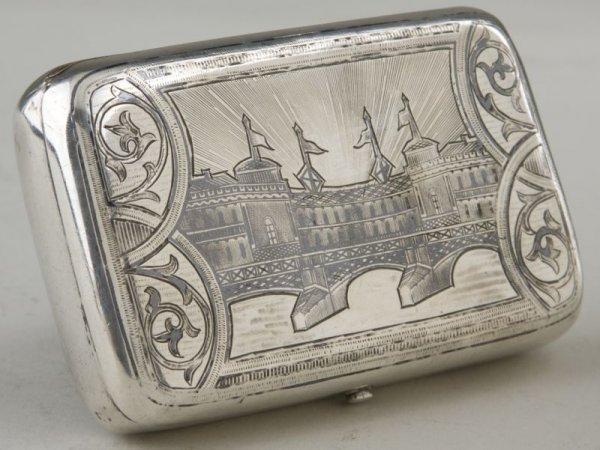 13: Silver Snuff Box, Russian, 19th c.,