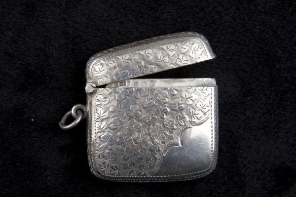 15: Sterling Silver Match Safe, English, 1902,
