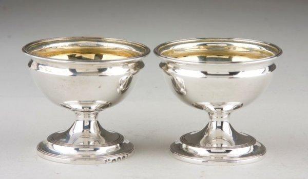 18: Pair of George III Sterling Silver Salts,