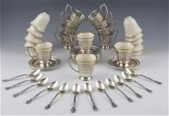 390 Sterling Demitasse Set by Gorham  Lenox