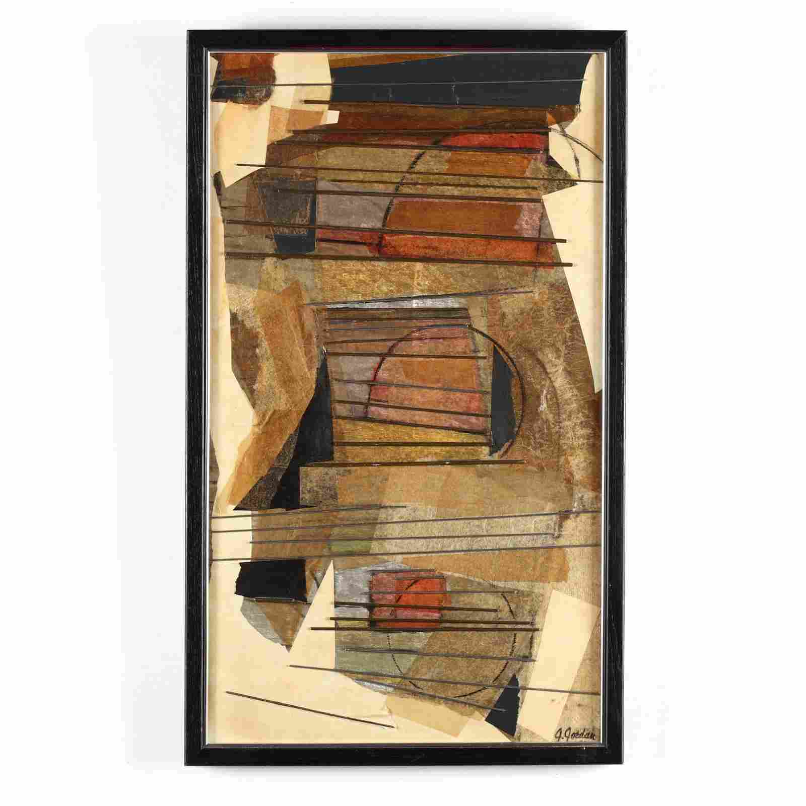 Mid-Century Cubist Style Painting,  Horizontals #1