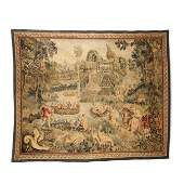 Antique Continental Scenic Tapestry
