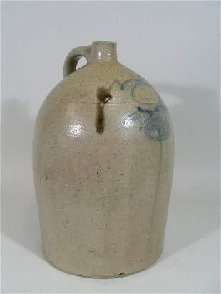 Cobalt Decorated Stoneware Jug, 19th c.,