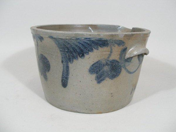 6: Cobalt Decorated Stoneware Batter Crock, 19th c., - 2