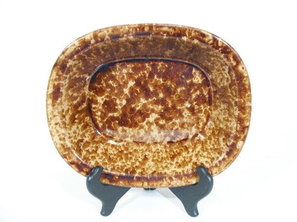 9: Rockingham Mottled Brown Spongeware Bowl,