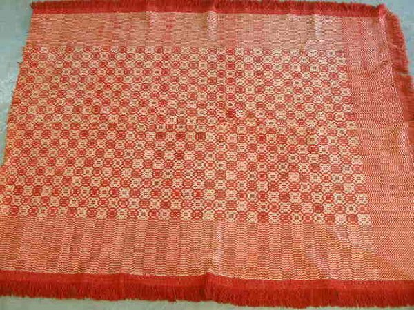 12: PA Overshot Coverlet, 19th c.,