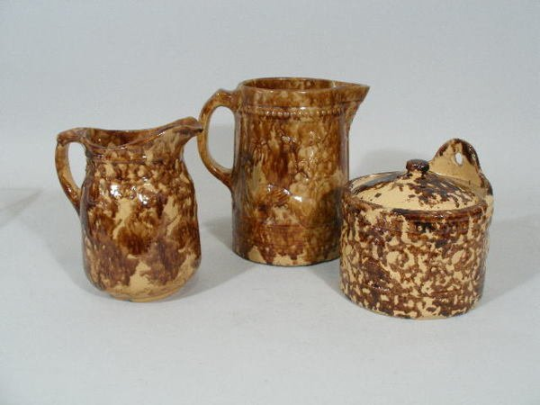 14: Group of Three Spongeware Pieces,
