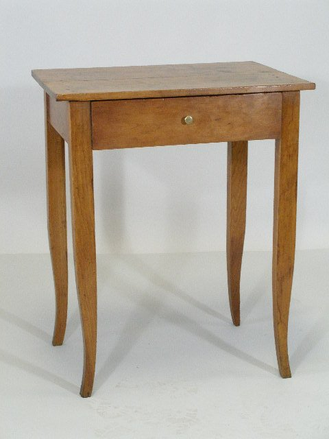 22: New England One-Drawer Side Stand, c. 1830,