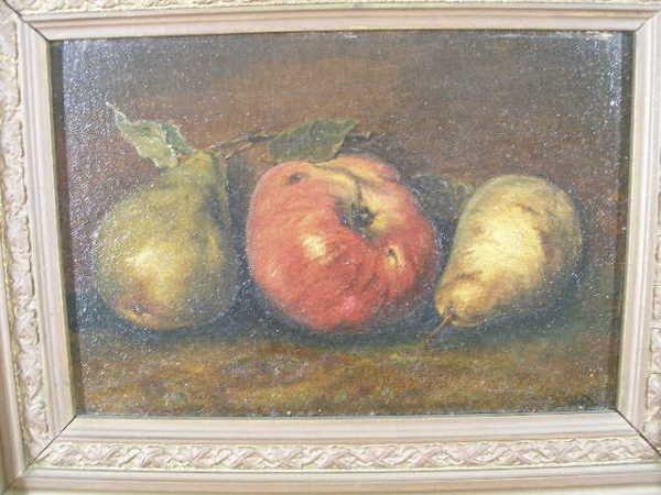 24: American School, late 19th c., Still Life w/Fruit,