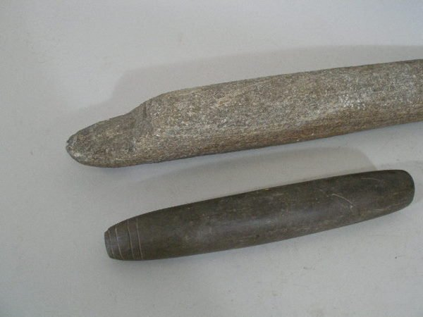 239: Group of Three American Indian Stone Tools, - 2
