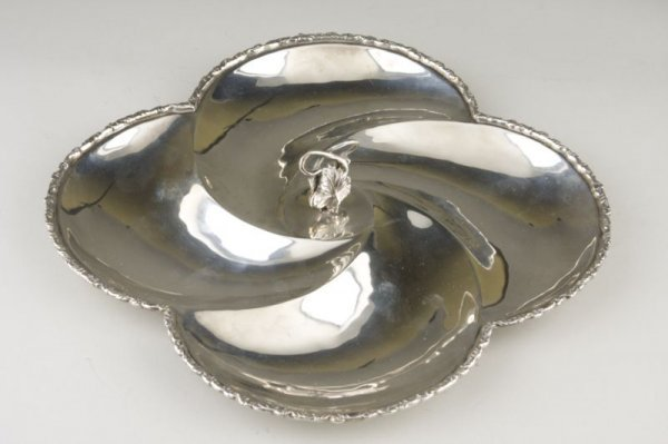5: Sterling Silver Serving Dish, Mexican,