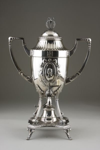 6: Neoclassical Style Silverplate Hot Water Urn,