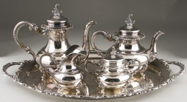 14: Sterling Silver Tea Service, Finnish, 20th c.,