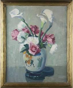 84: Jane Peterson (NY, 1876-1965), Calas & Roses,