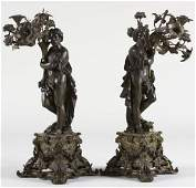 304: Pair of French Neoclassical Figural Candelabra,
